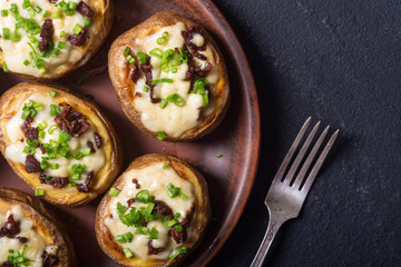 Baked potato stuffed with cheese