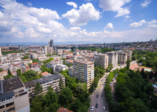 Sofia City Bulgaria / Aerial Photography