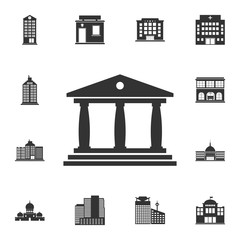Museum building icon. Simple element illustration. Museum building symbol design  from Buildings collection set. Can be used for web and mobile