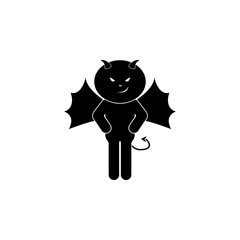 cute demon icon. Element of angel and demon for mobile concept and web apps. Detailed cute demon icon can be used for web and mobile. Premium icon