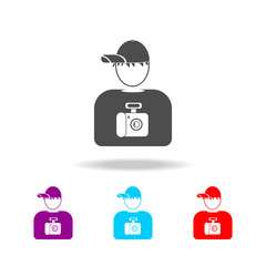 avatar of the photographer icons. Elements of avatars in multi colored icons. Premium quality graphic design icon. Simple icon for websites, web design, mobile app, info graphics