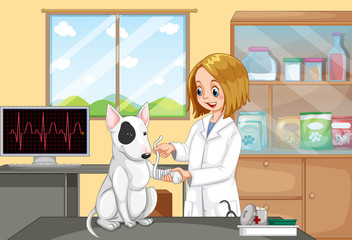 Veterinarian Doctor Helping a Dog