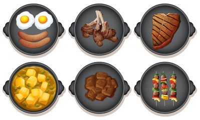 A Set of Meal on Hotplate