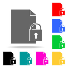 padlock icons. Elements of human web colored icons. Premium quality graphic design icon. Simple icon for websites, web design, mobile app, info graphics