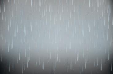 Realistic StormHeavy Rain  Vector