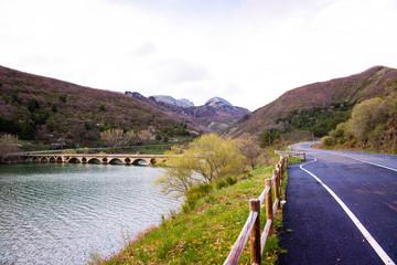 Reservoir of Barrios de Luna, Spain
