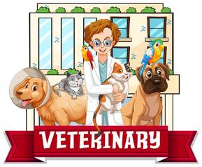 Veterinarian Doctors with pets