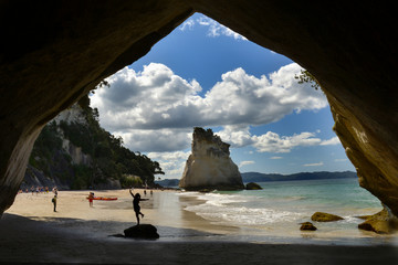 Poster Cathedral Cove Cathedral Cove in Coromandel, New Zealand