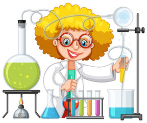 A Student in Science Lab Class