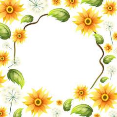 A Beautiful Sunflower Frame