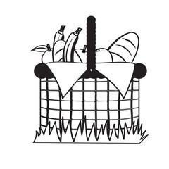 Picnic basket sketch