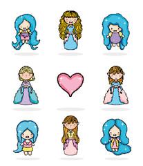 Set of princesses