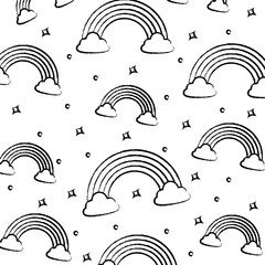 background of rainbows pattern, sketch design. vector illustration