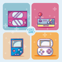 Set of videogames icons