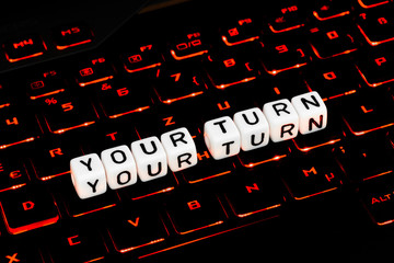 Your turn symbol on an keyboard