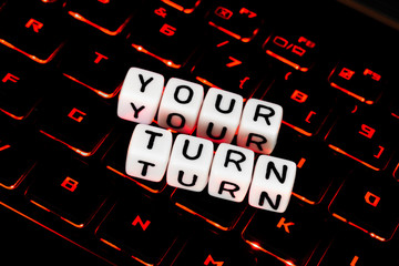 Your turn symbol on an keyboard