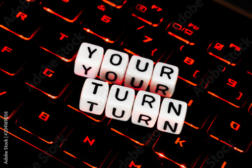 Your Turn Symbol On An Keyboard Stock Photo And Royalty Free Images