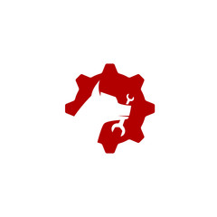 mechanic dog logo template