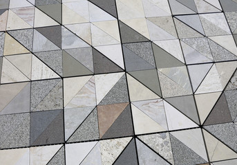 marbles of many kinds and colors for the flooring