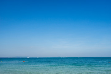 empty seascape and blue sky for relax or background design