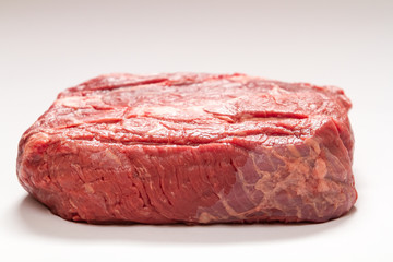 Raw Beef Roast On White Background Medium Shot