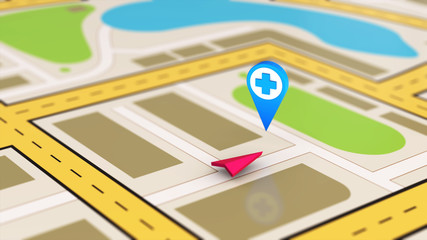 Hospital navigation point