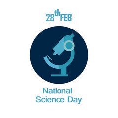 nice and beautiful abstarct or poster for national Science Day with nice and creative design illustration.