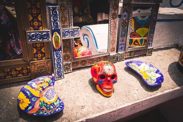 Mexican skull in Puebla