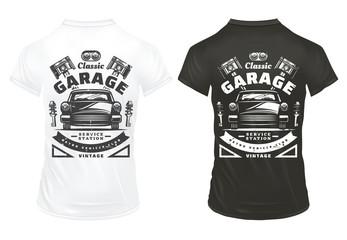 Vintage Classic Cars Garage Service Prints