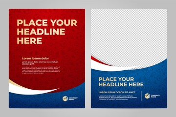 Layout Template design of the poster for sport event, 2018 trend