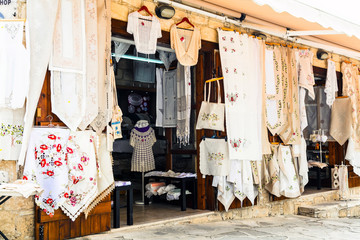 Keuken foto achterwand Cyprus Traditional villages of Cyprus with lace workshops. Omodos