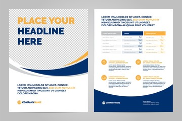 Brochure Layout template, cover design background and annual reports.