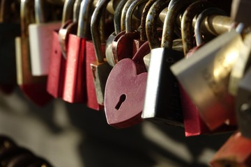 Love padlocks, List, Sylt, Germany, Europe