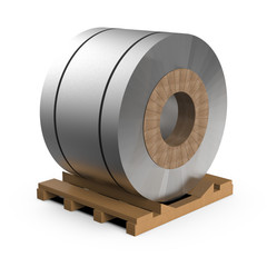 Roll of steel tape, 3 illustration.