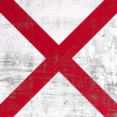 scratched Alabama flag