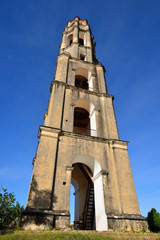 Manaca Iznaga tower in Valle de los Ingenios valley near Trinidad city in Cuba
