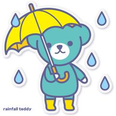 シーズンズテディ 雨降り
