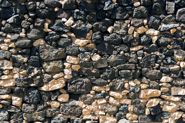 Background of stone wall.