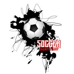 nice and beautiful abstract or poster for Soccer Tournament or Football Tournament with nice and creative design illustration.