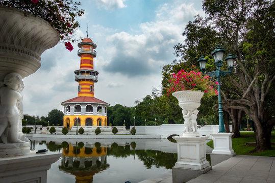 Königliche Sommerresidenz Bang Pa In: Aussichtsturm Ho Withun Thasana