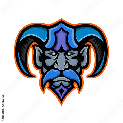 Mascot Icon Illustration Of Head Of Hades Greek Mythology God Of