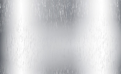 Metal abstract technology background. Aluminum with polished, brushed texture. Vector illustration of grey metal, stainless steel texture background with reflection light