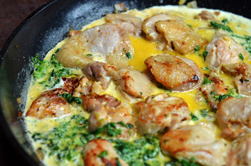 Chicken with spinach in a cream sauce