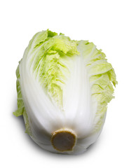 Chinese cabbage.(clipping path)