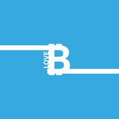 I love bitcoin vector icon