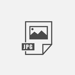 JPG format vector icon