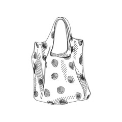Beautiful vector hand drawn shopping bag Illustration