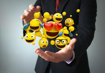 emoticon communications concept