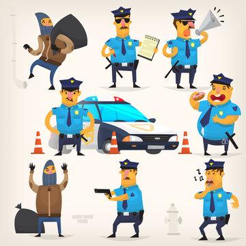 Policeman doing their job