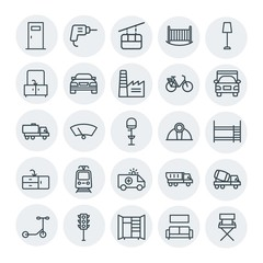 Modern Simple Set of transports, industry, furniture Vector outline Icons. Contains such Icons as entrance,  industry, traffic,  couch,  sky and more on white background. Fully Editable. Pixel Perfect